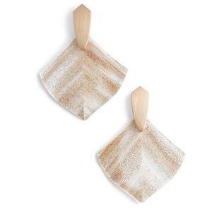 KENDRA SCOTT Astoria Earrings RoseGold DustedGlass